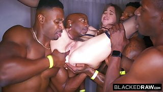 BLACKED RAW - My girlfriend got gangbanged at the after party
