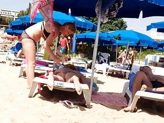 Breast suntan lotion video Suntan lotion holiday rub