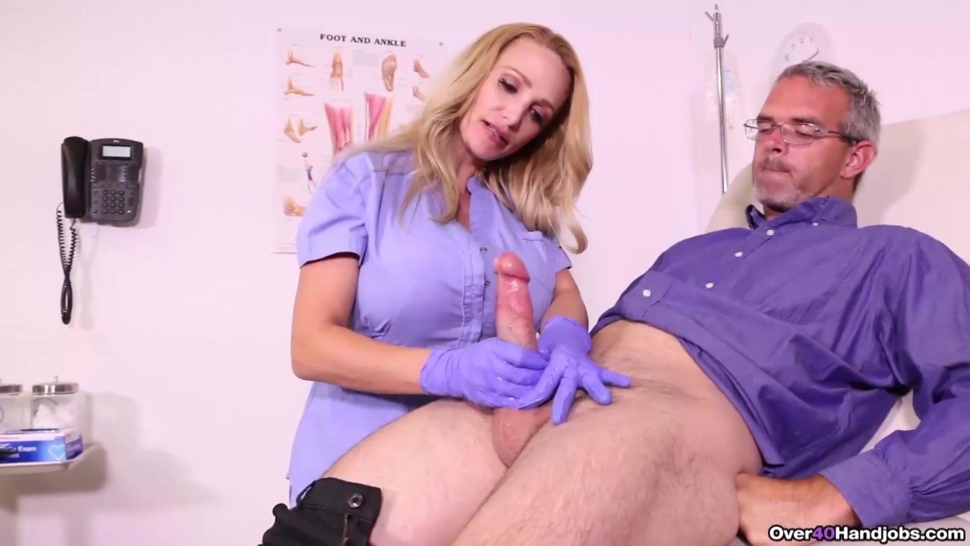 Milf nurse handjob