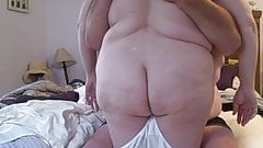 rubbing the wifes big white soft ass.