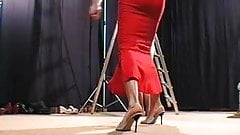 Russian style femdom whipping