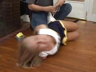 Vagina blocked duct - Blonde cheerleader hogtied and duct tape gagged