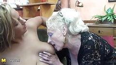 Двух бабушек трахнула невероятно горячая девушка