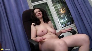 Mature mother with sweet natural body
