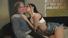 Oldman John fuck beautiful girl