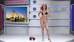 Русская девушка из Москвы, телевизор Alena