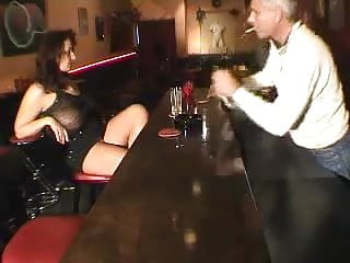 Big tited woman fucking - Big tited milf gets fucked in a bar