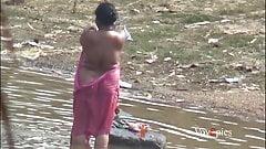Chubby Voyeur Bathing Outdoor Spy1