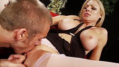Cindy loves cum eating after a hard sex pounding