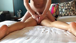 Wifes ass it twitching with vibe