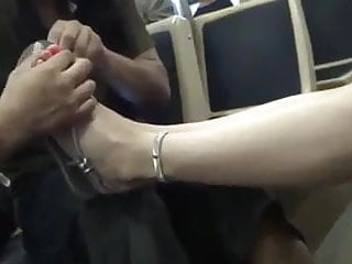 Lick feet story Lick feet in train