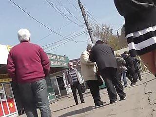 Hidden upskirt pantyhose pics - Upskirt pantyhose getting on tram