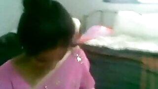 Telugu aunty in a pink saree