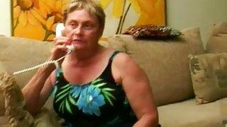 Granny Blowjob and Facial