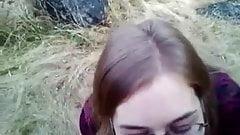 British slut outdoor cum swallow