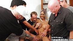 Beauty Big Tits Bukkake Bang Party
