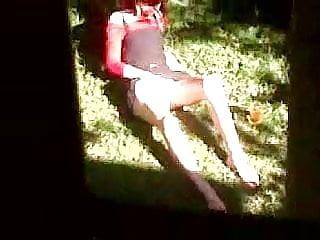 Teen girls urinating outside - Caught masturbating outside