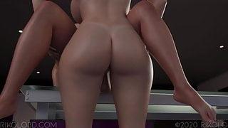 Busty futanari MILF boss has sex – 3D