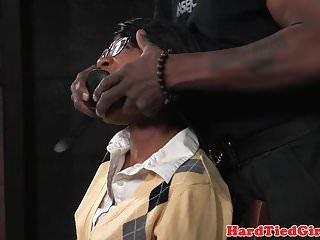 Bondage tiedup women - Ebony bdsm sub tiedup and fingered by maledom