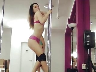 Ideal terminal strip 24 pole - New girlfriend does strip pole class and records sexy slut1