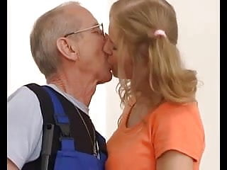 Old men young girl sex videios Old men and tree girl and two boy