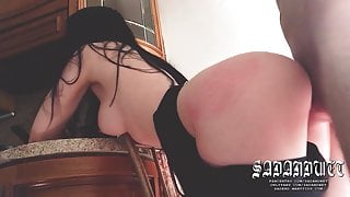 Delivery GIrl FUCKED For Being Late, Sex With Hot Courier