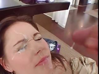 Messy raw egg cum sluts Slut gets messy facial