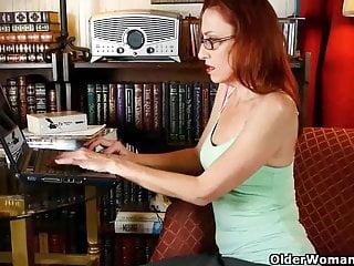 Mature classy ladies - Classy mature lady masturbates in panties and pantyhose