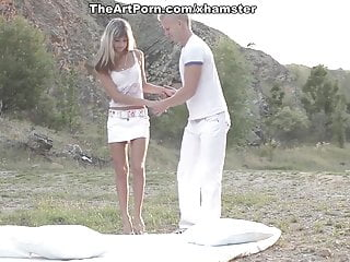 Videos of first vaginal orgasm - Sexy girl gina gets her first orgasm under the blue sky