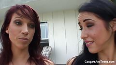 Astonishing redhead MILF gets nasty with her stepdaughter