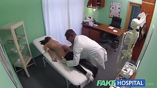 FakeHospital Young woman with   body caught on camera g