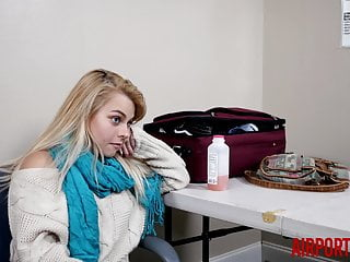 Latest airport security screening nude Barelely legal tiny blonde teen fucked by airport security