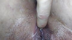 Spreading & fingering ex wife's well fucked pussy and ass