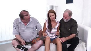 Old young threesome FMM