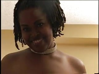 Ebony slut blowjob Big ebony slut gets on her kneels and sucks a black cock