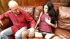Nymphomaniac Teen Seduce Step Dad to Fuck her to Orgasm