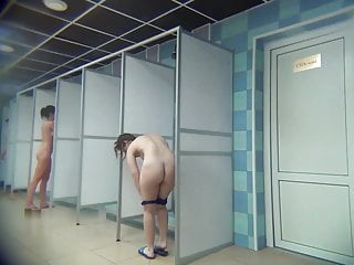 Sexy women in pantyhose - Sexy women in public showers-hidden cam clip