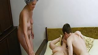 OmaHoteL – Old Threesome Hairy Mature Masturbation