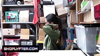 Asian Babe Jade Noir Caught Stealing And Punished