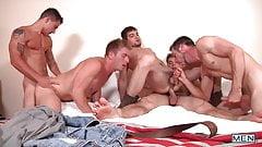 Hot Gang Bang Young Guys, Five Cum Shots, Anal Sex, Blow Job