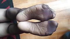 Nylon foot tease 2