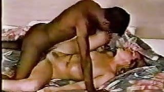 Blonde white wife with black lover -  Amateur Interracial Home-made