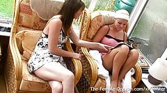 2 British Girls wanking together.
