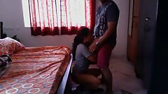 Hot Bengali girl quickie fuck with neighobour in her room