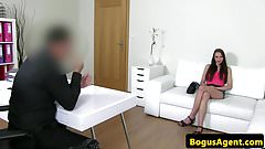 Cocksucking casting amateur fucked doggystyle