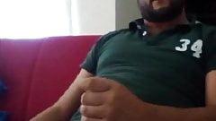 Same turkish bear stroking on cauch