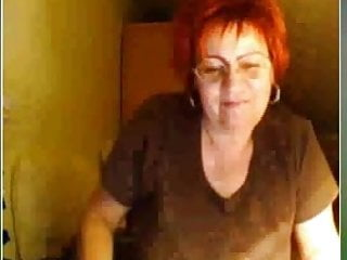 Mature el ladies web cam This red haired gran loves to give a web cam show