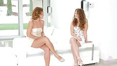 Sylvia Lauren and Bunny Babe chat and have hot lesbian sex