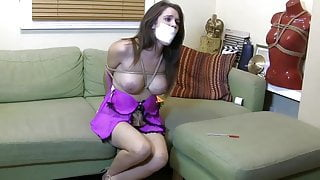 Busty woman and thief
