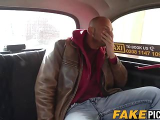 Blowjob in back of cab Taxi driving slut gets pounded hard in her own cab